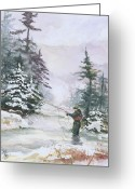 Mood Art Painting Greeting Cards - Winter Magic Greeting Card by Elisabeta Hermann