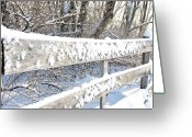 Snow Board Greeting Cards - Winter Morning Greeting Card by Thomas R Fletcher