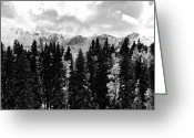 Snowy Range Greeting Cards - Winter Mountain Greeting Card by The Forests Edge Photography - Diane Sandoval