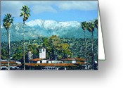 Santa Barbara Digital Art Greeting Cards - Winter Paradise Greeting Card by Kurt Van Wagner
