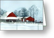 Barbara Painting Greeting Cards - Winter Respite in the Heartland Greeting Card by Barbara Jewell