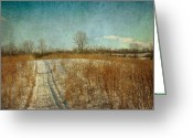 Winter Road Greeting Cards - Winter road Greeting Card by Tatiana Parmeeva