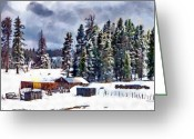 Farms Greeting Cards - Winter Seclusion Greeting Card by Jeff Kolker