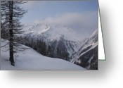 Snow Capped Greeting Cards - Winter Snow Scene Of The French Greeting Card by Melissa Farlow