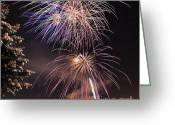 Solstice Greeting Cards - Winter Solstice Fireworks Greeting Card by Gary Whitton