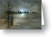 Solstice Greeting Cards - Winter Solstice Greeting Card by Jean Gugliuzza