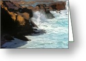 Winter Storm Greeting Cards - Winter Storm La Jolla Greeting Card by Russ Harris