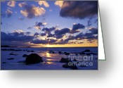 Forbidding Greeting Cards - Winter Sunset on Lake Michigan - FM000053 Greeting Card by Daniel Dempster