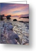 Devon Greeting Cards - Winter Sunset Greeting Card by Paul Wynn-Mackenzie Photography