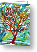 Carolinestreet Greeting Cards - Winter Thaw Greeting Card by Caroline Street