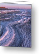 Northshore Greeting Cards - Winter Tide on Plum Island Greeting Card by Juergen Roth