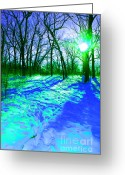 First Star Art By Jammer Greeting Cards - Winter Walk  Greeting Card by First Star Art