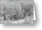 Mark Lehar Greeting Cards - Winter Walk Greeting Card by Mark Lehar