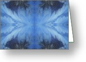 Cabin Window Greeting Cards - Winter Wings Greeting Card by Jane Alexander