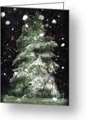 Snowy Night Greeting Cards - Winter Wonderful Greeting Card by Lj Lambert