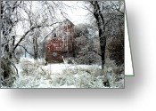 Rural Decay  Digital Art Greeting Cards - Winter Wonderland Greeting Card by Julie Hamilton