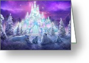 Scene Mixed Media Greeting Cards - Winter Wonderland Greeting Card by Philip Straub