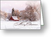 Spokane Greeting Cards - Winters Glow - Christmas Card Greeting Card by Reflective Moments  Photography and Digital Art Images