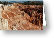 Natural Formations Greeting Cards - Winters Last Touch - Bryce Canyon Greeting Card by Sandra Bronstein