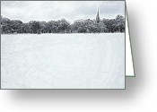 Gray Sky Greeting Cards - Winters Peace Greeting Card by Stefan Kuhn