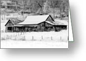 Shed Photo Greeting Cards - Winters White Shroud Greeting Card by Tom Mc Nemar