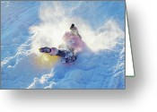 Winter Sports Photo Greeting Cards - Wipe Out Greeting Card by Randy Steele