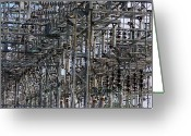 Wire Mixed Media Greeting Cards - Wired Greeting Card by Robert Pearson