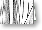 Midtown Greeting Cards - Wires Abstract Greeting Card by Svetlana Sewell