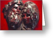 Inspirational Sculpture Greeting Cards - Wisdom and Hope Greeting Card by Larkin Chollar