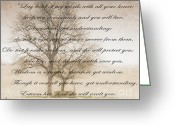 Embrace Greeting Cards - Wisdom Greeting Card by Charles Dobbs