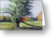 Autumn Landscape Pastels Greeting Cards - Wisdom Greeting Card by Don Gardi