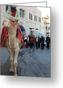 Wise Man Greeting Cards - Wise Man during the Christmas Parade Greeting Card by Munir Alawi