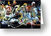 Modern Abstract Art Greeting Cards - Wish List XXVIII Greeting Card by Michel  Keck