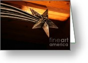 Sterling Silver Greeting Cards - Wish Upon a Shooting Star Greeting Card by Linda Knorr Shafer
