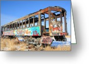 Train Car Greeting Cards - Wishing for Better Days Greeting Card by Gary Whitton