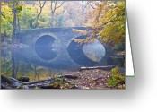 Bill Cannon Greeting Cards - Wissahickon Creek at Bells Mill Rd. Greeting Card by Bill Cannon
