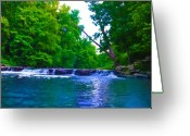 Forrest  Greeting Cards - Wissahickon Waterfall Greeting Card by Bill Cannon