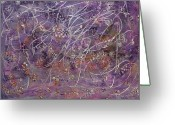 Designers Choice Painting Greeting Cards - Wisteria Painting  Greeting Card by Don  Wright