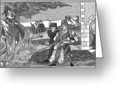 1555 Greeting Cards - Witch Burning, 1555 Greeting Card by Granger