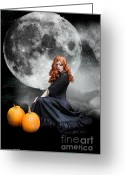 Magick Greeting Cards - Witching Hour  Greeting Card by Crispin  Delgado