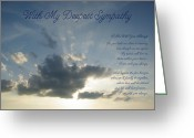 Robyn Stacey Photo Greeting Cards - With Deepest Sympathy Greeting Card by Robyn Stacey