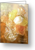Romantic Floral Greeting Cards - With Love Greeting Card by Julie Palencia