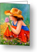 Prairie Greeting Cards - With These Hands--Wonder Greeting Card by Carol Allen Anfinsen