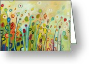 Abstract Greeting Cards - Within Greeting Card by Jennifer Lommers