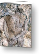 Nudes Males Greeting Cards - Within Greeting Card by Kurt Van Wagner