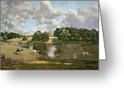 Swans Painting Greeting Cards - Wivenhoe Park Greeting Card by John Constable