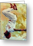 Sports Art Painting Greeting Cards - Wizard Greeting Card by Adam Barone