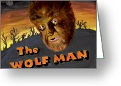 Wolfman Greeting Cards - Wolf Bane Baby Greeting Card by Kathryn Gainard