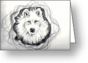 Carol Allen Anfinsen Greeting Cards - Wolf Totem Greeting Card by Carol Allen Anfinsen