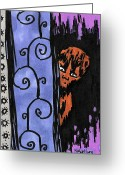 Wolfman Greeting Cards - Wolfboy Greeting Card by Jera Sky